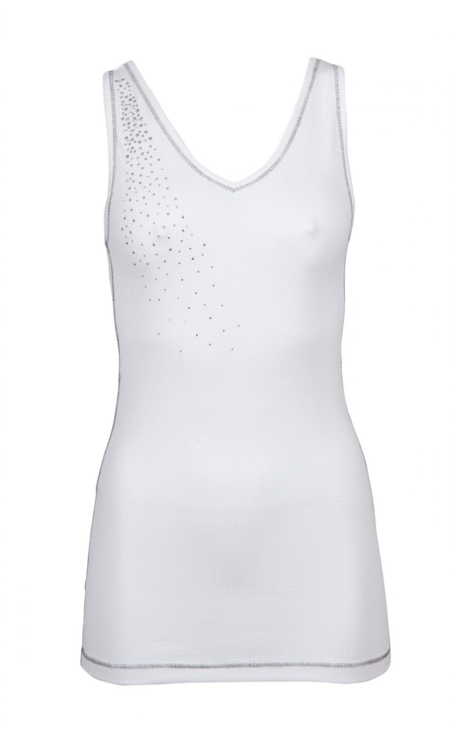 S'No Queen CLASSIC Vest: White -331