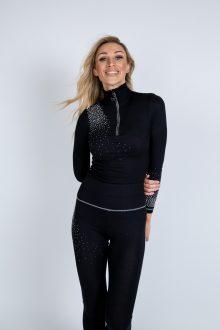 classic zip polo designer thermal and leggings