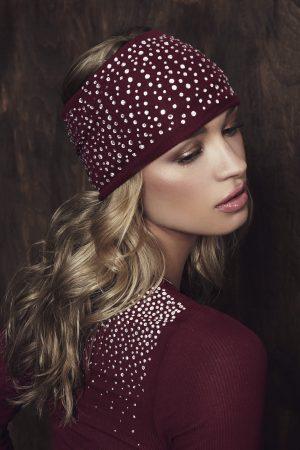 S'No Queen headband : Wine-0