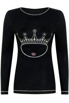 QUEEN Collection crew; Black NEW SIZES ARRIVED-415