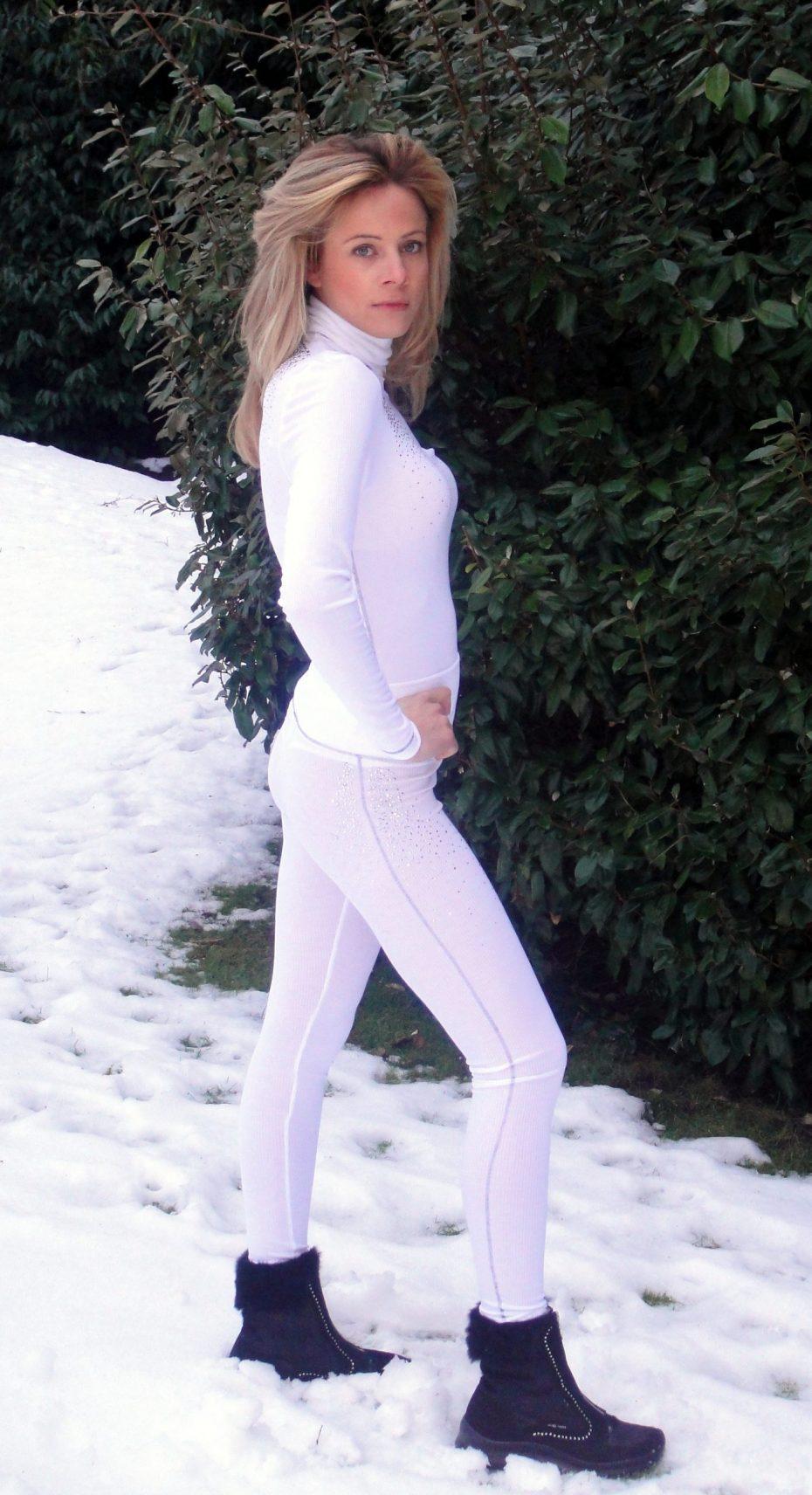 Blingypistestar Vintage white leggings-321