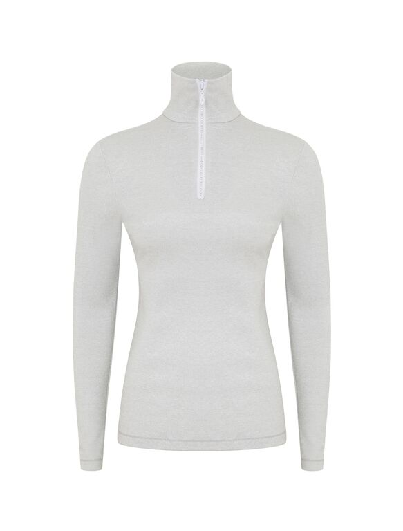 Sparkle Collection 'S'No White' : Zip Polo: LAST ONE REMAINING-332