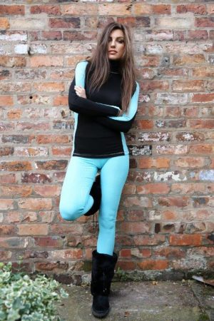S'No Queen CLASSIC leggings: Tiffany Blue-0