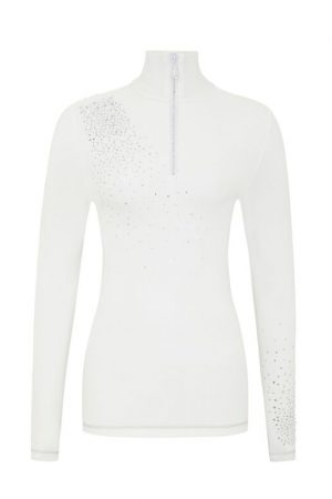 S'No Queen CLASSIC Zip Polo: White -351