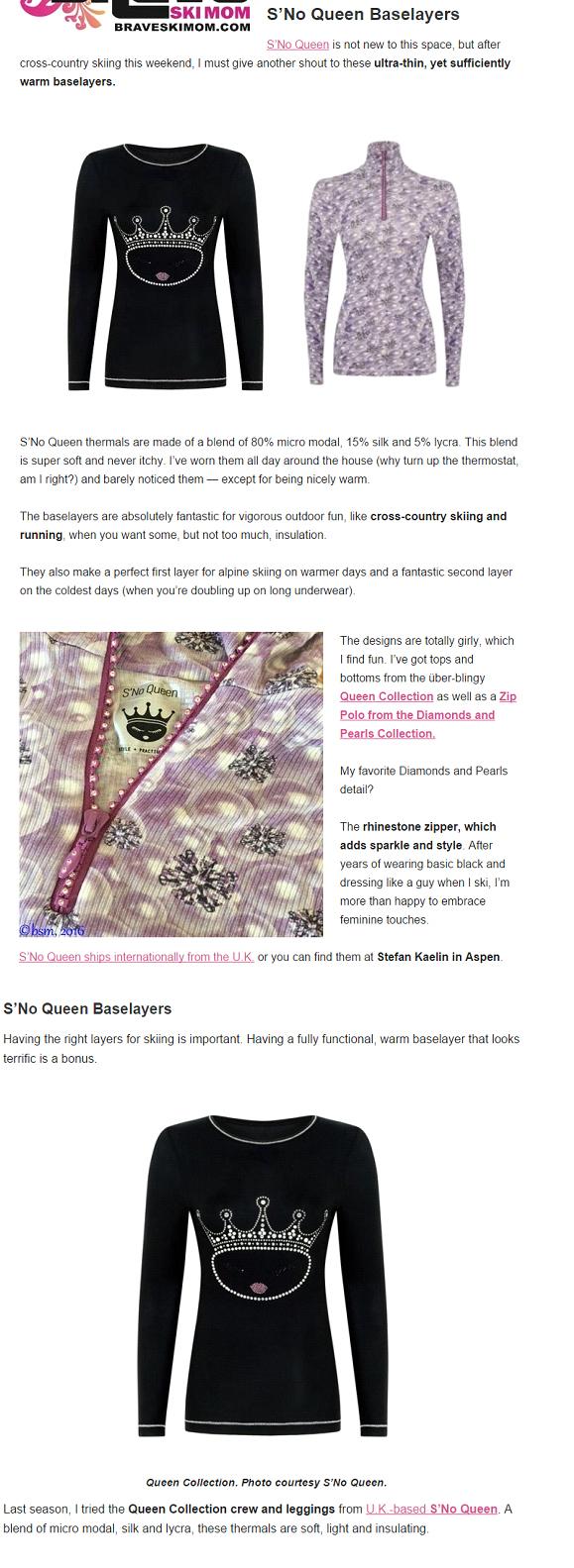 Brave Ski Mom - S'No Queen Blogs