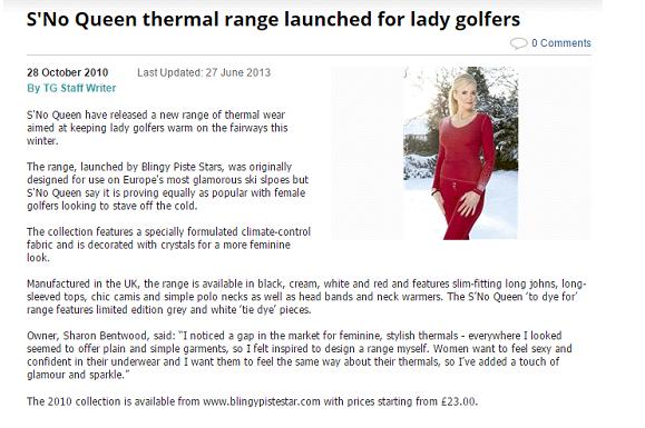 Golfers Today S'No Queen