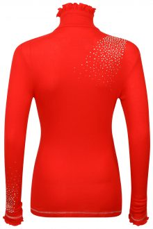 S'No Queen FRILL zip polo: RED-552