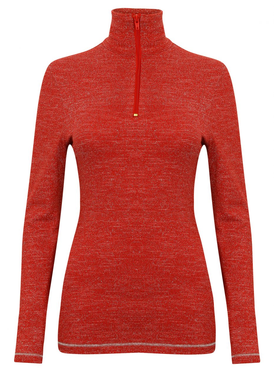 Sparkle Collection RED : zip polo -531
