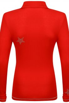 S'No Queen STAR zip polo: RED -541