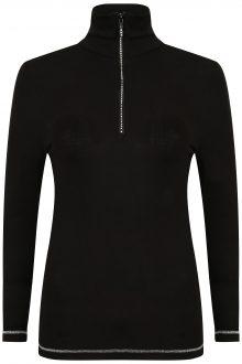S'No Queen Royal Zip Polo: Black & Silver -544