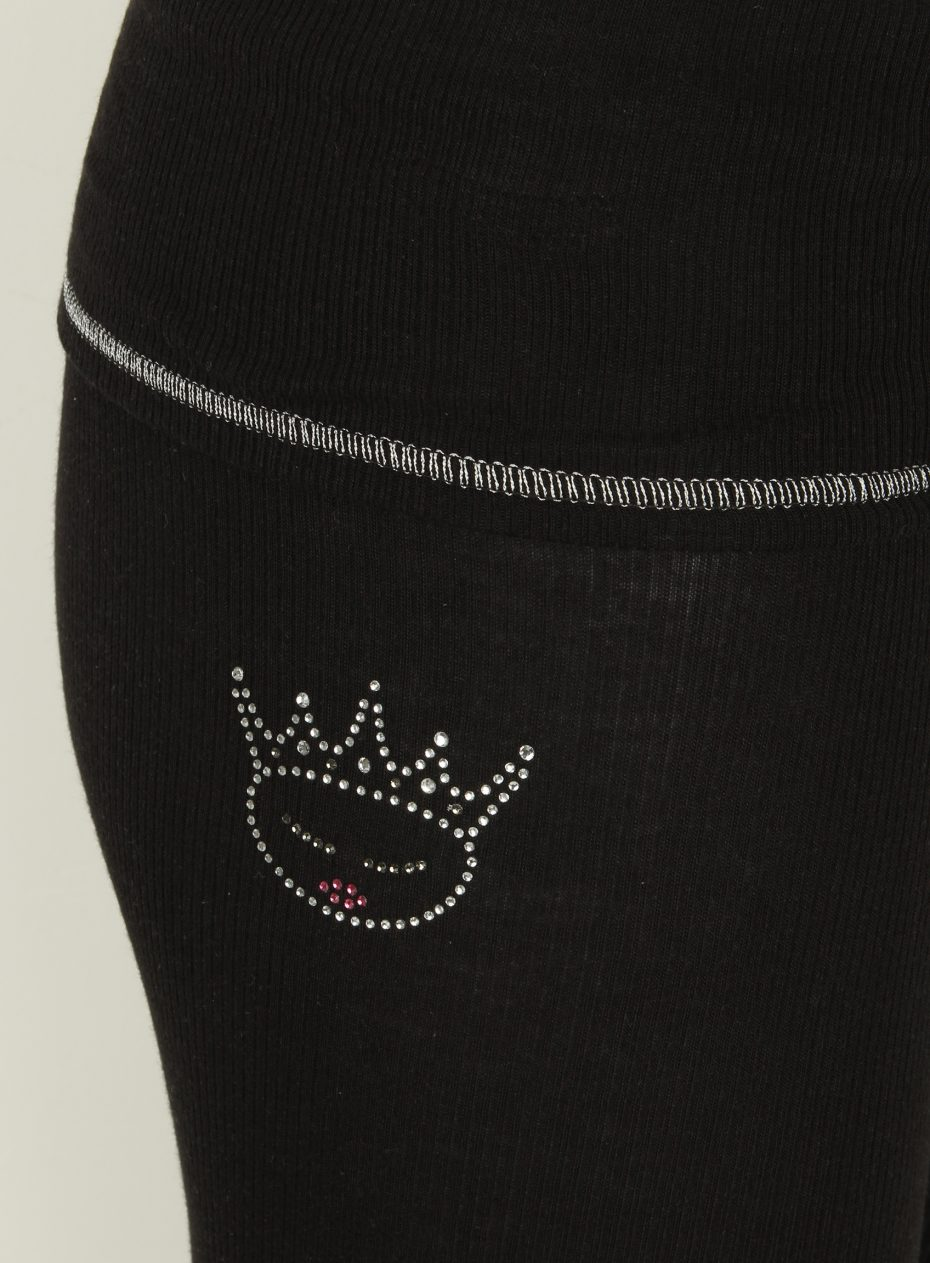 S'No Queen ROYAL leggings : Black/silver: NEW SIZES ARRIVED-594