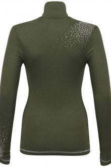 S'No Queen CLASSIC zip polo: NEW colour Khaki: -608