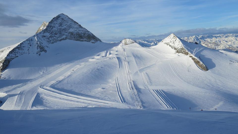 All year skiing at Hintertux, Austria