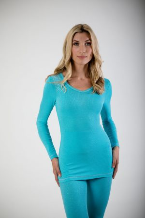 S'No Queen Long Length 'V': Tiffany Blue-0