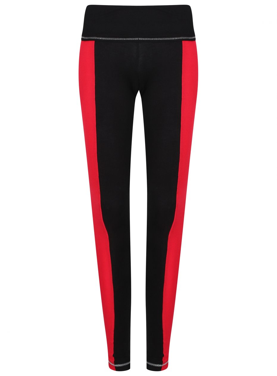 S'No Queen: Stripetease Legging: Black & Red: NEW COLOUR-620
