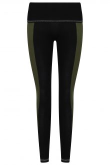 S'No Queen: Stripetease Legging: Black & Khaki: NEW COLOUR-623