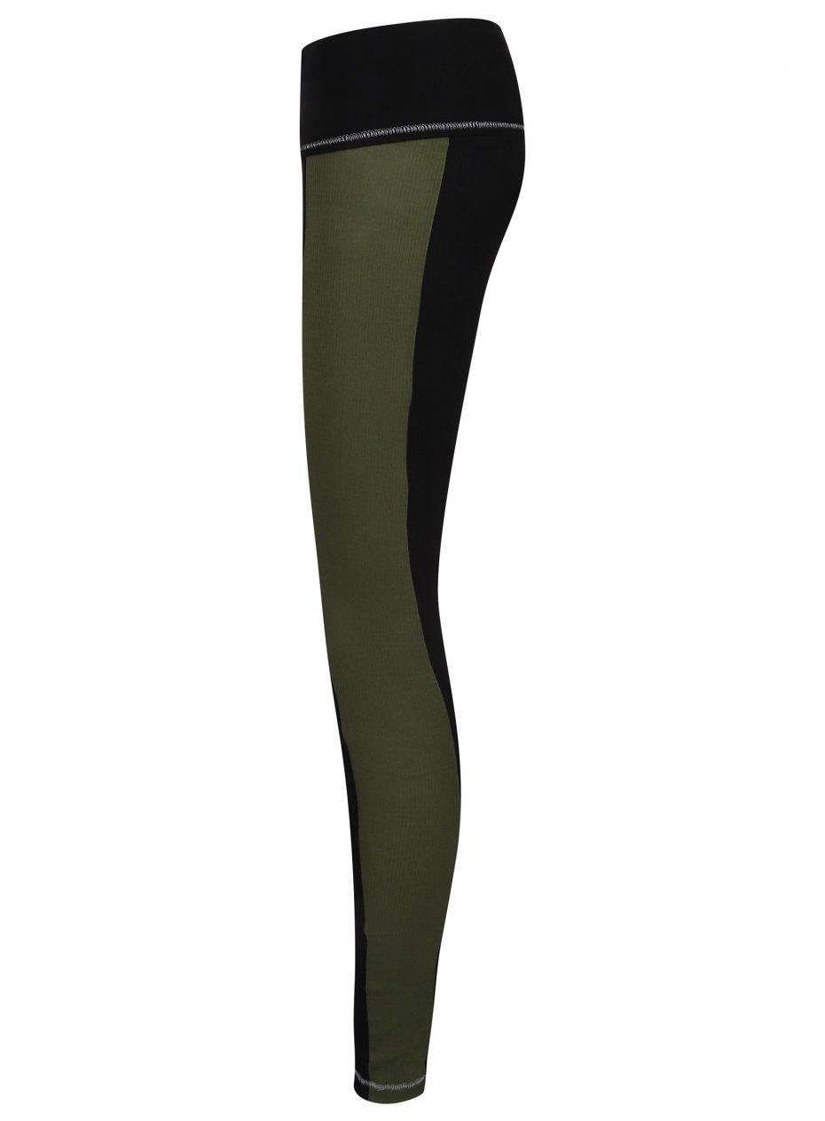 S'No Queen: Stripetease Legging: Black & Khaki: NEW COLOUR-622