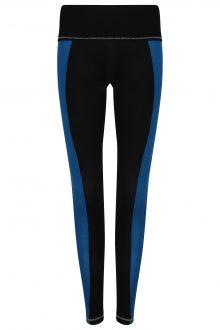S'No Queen Stripetease leggings: Black & Electric Blu: SQ EXCLUSIVE-686