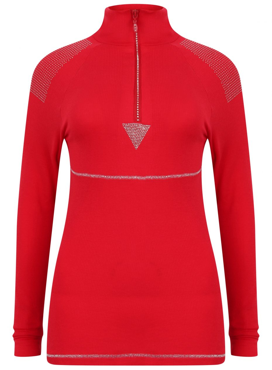 Whistler Sport Zip Polo: Red: SALE-0