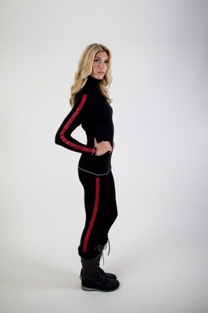 Fiesta Legging: Black & Red : SALE-0