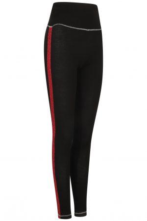 Fiesta Legging: Black & Red : SALE-714