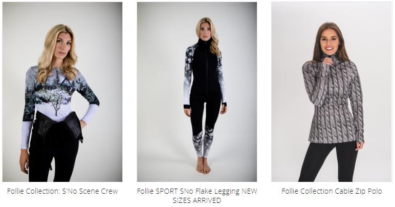 Ladies Ski Fashion Prints - Follie Collection