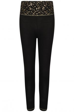 Gemini Legging : Black & Gold -0