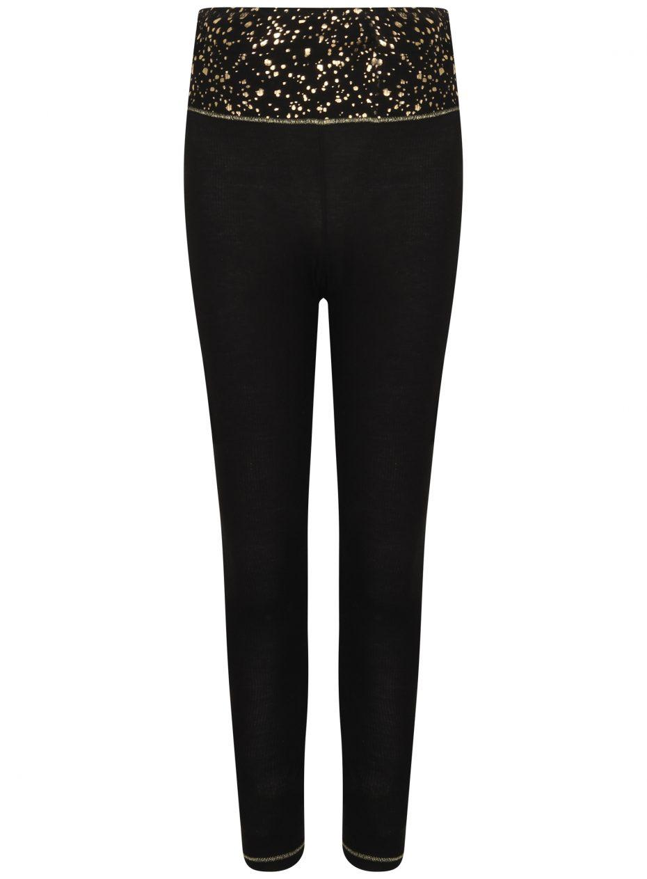 Gemini Legging : Black & Gold -0