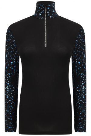 Gemini Zip Polo: Black & Blu Limited Edition-0