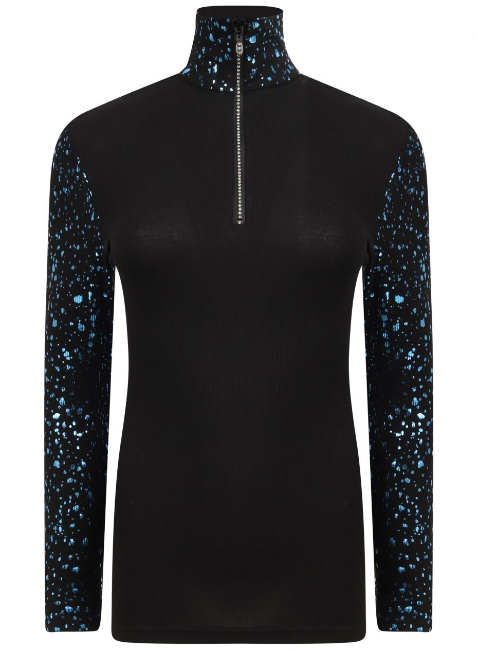 Gemini Zip Polo: Black & Blu Limited Edition-0