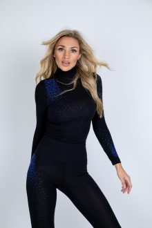 Blue twist polo top and leggings uk