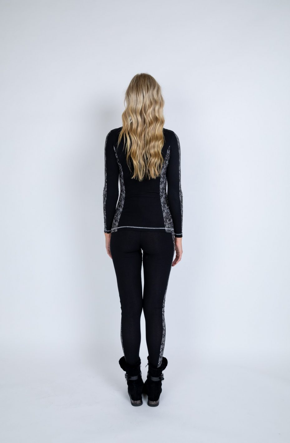 Lace top and leggings base layers back