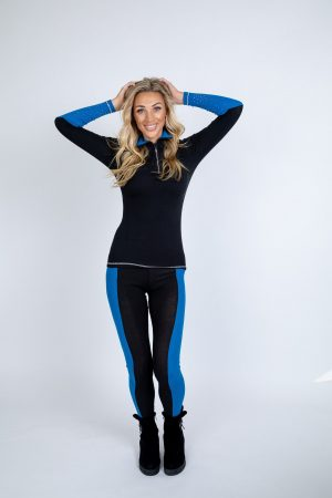 Black and Blue Zip Polo base layer limited edition