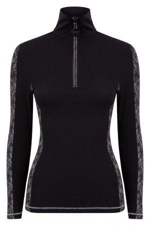 Zip polo lace base layer