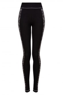 black and lace leggings