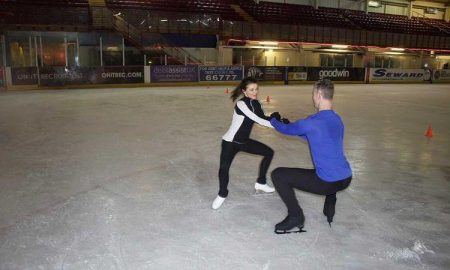 S'No Queen dancing on Ice Faye Brookes with Hamish